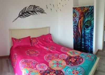 chambre rose intérieur